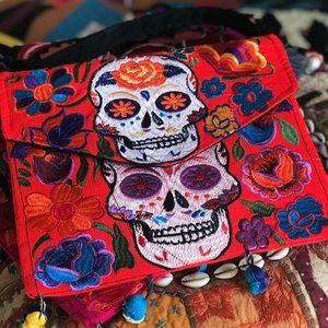 Handbags - Skulls clutch purse